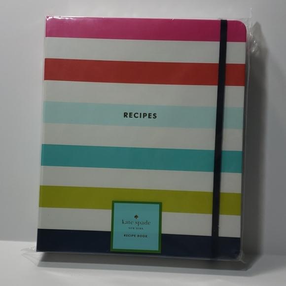 Kate spade Recipe Book (Candy Stripe)